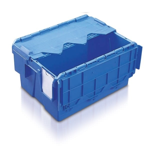 Attached Lid Containers (AT432204AA) AT432204 - 18 Litre - Blue - 400x300x222mm