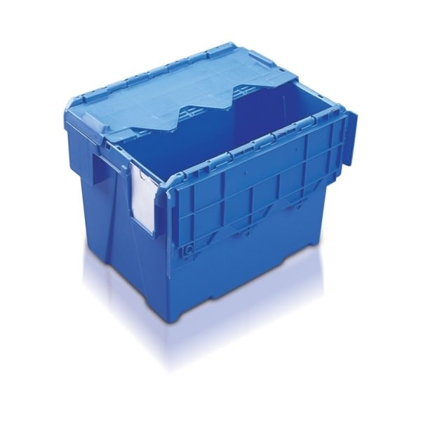 Attached Lid Containers (AT433104AA) AT433104 - 25 Litre - Blue - 400x300x306mm