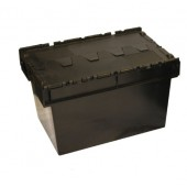 Attached Lid Containers - AT0A5B04 - 54 Litre - Black - 600x400x306mm