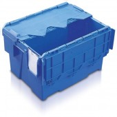 Attached Lid Containers (AT432604AA) AT432604 - 22 Litre - Blue - 400x300x264mm