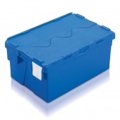 Attached Lid Containers (AT642604AA) AT642604 - 48 Litre - Blue - 600x400x264mm