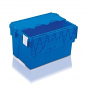 Attached Lid Containers (AT643604AA) AT643604 - 65 Litre - Blue - 600x400x365mm