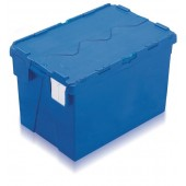 Attached Lid Containers (AT644004AA) AT644004 - 70 Litre - Blue - 600x400x400mm